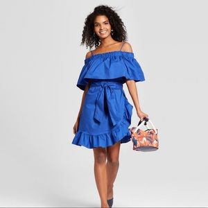 Belted Bardot Mini Dress
